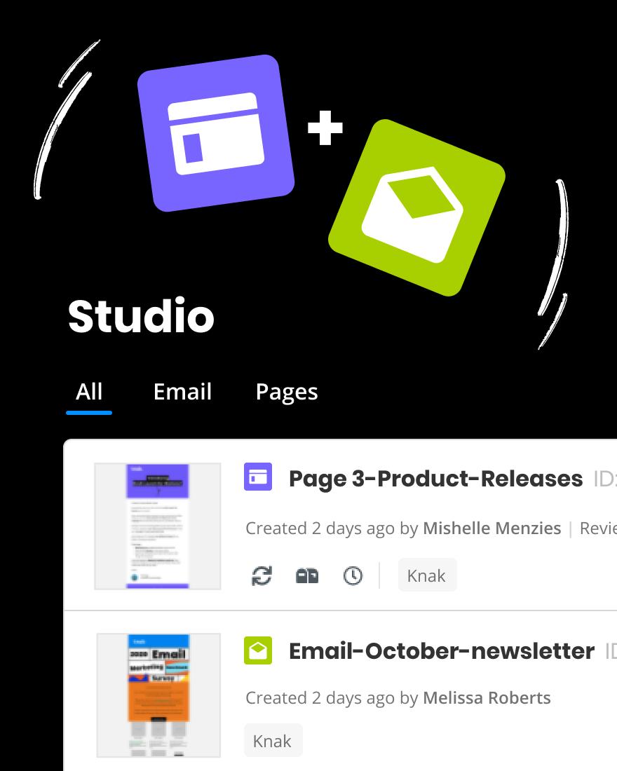 Screenshot of Knak Studio